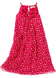 Robe en voile de chiffon, bpc bonprix collection, rouge/blanc