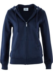 Gilet sweat, bpc bonprix collection, bleu foncé