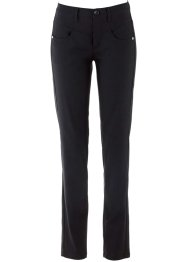 Pantalon extensible amincissant, droit, bpc bonprix collection, noir