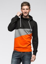 Le sweat-shirt, RAINBOW, noir/gris chiné/orange