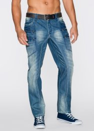 Jean Regular Fit Straight, RAINBOW, bleu denim used