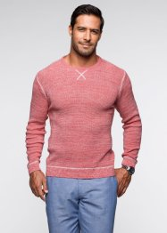 Pull Regular Fit, bpc selection, rouge clair chiné