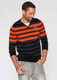 Pull Slim Fit, RAINBOW, anthracite chiné/orange foncé rayé