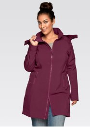 Manteau fonctionnel softshell, bpc bonprix collection, prune