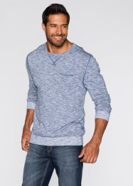 Pull Regular Fit, bpc bonprix collection, indigo/blanc chiné