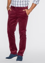 Pantalon en velours côtelé Slim Fit, bpc bonprix collection, bordeaux