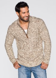 Pull camionneur Regular Fit, John Baner JEANSWEAR, beige chiné