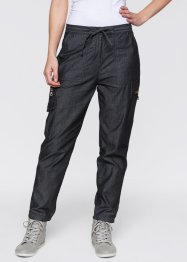 Pantalon cargo 7/8, bpc bonprix collection, noir
