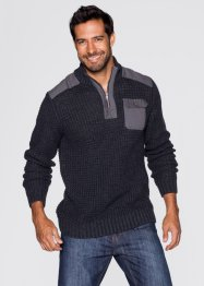 Pull à col montant Regular Fit, John Baner JEANSWEAR, anthracite chiné