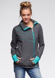 Gilet sweat-shirt, RAINBOW, anthracite chiné