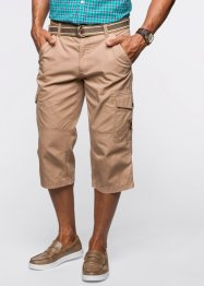 Pantalon 3/4 Regular Fit avec ceinture, bpc bonprix collection, camel