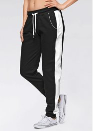 Pantalon sweat, bpc bonprix collection, noir/blanc