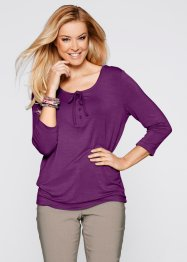 T-shirt manches 3/4, bpc bonprix collection, violet pervenche