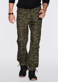 Pantalon Regular Fit Straight, RAINBOW, noir camouflage