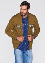Gilet en maille Regular Fit, bpc selection, cognac chiné