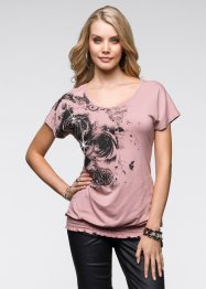 T-shirt, BODYFLIRT, bois de rose