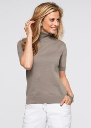 Pull manches courtes, bpc selection, taupe