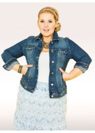 Veste courte en jean - designed by Maite Kelly, bpc bonprix collection, bleu stone used