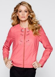 Veste simili cuir, bpc selection, fuchsia clair