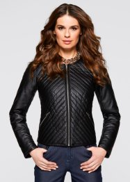Veste simili cuir, bpc selection, noir