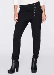Pantalon sweat avec patte de boutonnage, RAINBOW, noir