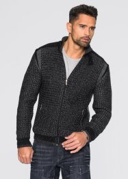 Gilet en maille Regular Fit, RAINBOW, noir/gris fumé