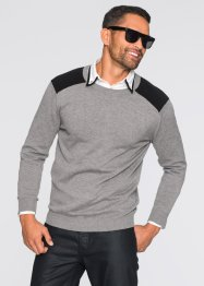 Pull Slim Fit, RAINBOW, gris chiné/noir