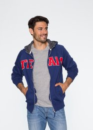 Gilet sweat-shirt à capuche Regular Fit, bpc bonprix collection, bleu nuit