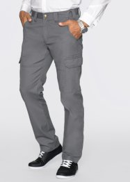 Pantalon cargo Regular Fit Straight, bpc bonprix collection, gris fumée