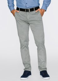 Pantalon chino extensible Slim Fit Straight, bpc bonprix collection, gris neutre