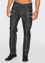 Jean Regular Fit Straight, RAINBOW, noir denim