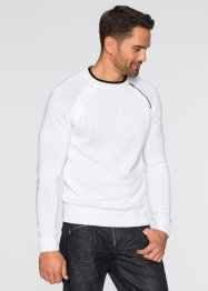 Pull Slim Fit, RAINBOW, blanc