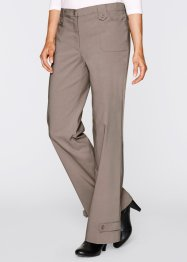 Pantalon en bengaline, droit, bpc bonprix collection, taupe