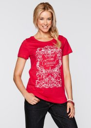 T-shirt demi-manches, bpc bonprix collection, rouge imprimé