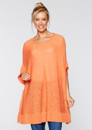 Poncho en fil flammé, bpc bonprix collection, nectarine