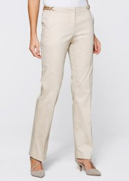 Pantalon extensible avec décorations, bpc selection, beige galet