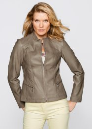 Veste simili cuir, bpc selection, taupe