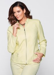 Veste simili cuir, bpc selection, sorbet citron