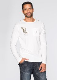 T-shirt manches longues Slim Fit, RAINBOW, blanc