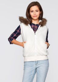 Gilet polaire, bpc bonprix collection, blanc cassé