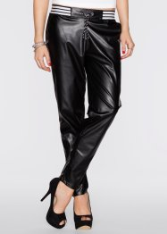 Pantalon simili cuir, RAINBOW, noir