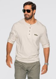 T-shirt manches longues Regular Fit, bpc bonprix collection, gris