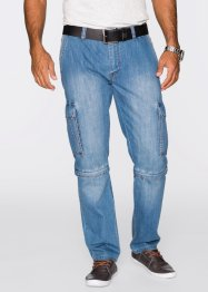 Jean cargo modulable Regular Fit Straight, John Baner JEANSWEAR, bleu clair used