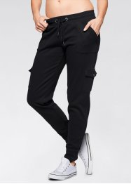Pantalon sweat cargo, bpc bonprix collection, noir