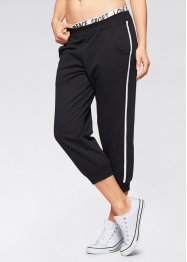 Pantalon sweat 3/4, bpc bonprix collection, noir
