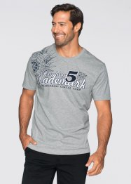 T-shirt Regular Fit, bpc bonprix collection, gris clair chiné