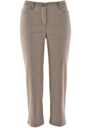 Pantalon bengaline 3/4, bpc bonprix collection, taupe