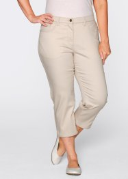 Pantalon 3/4 ultra-stretch, bpc bonprix collection, blanc