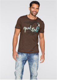 T-shirt Slim Fit, RAINBOW, marron