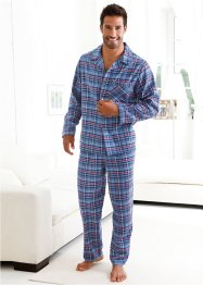 Pyjama en flanelle, bpc bonprix collection, bleu à carreaux